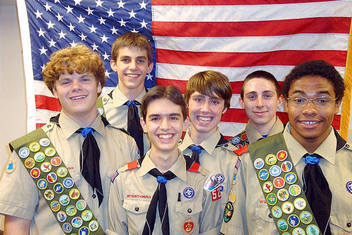 Scouts earn Eagle award in the Manhattan LDS troop.
