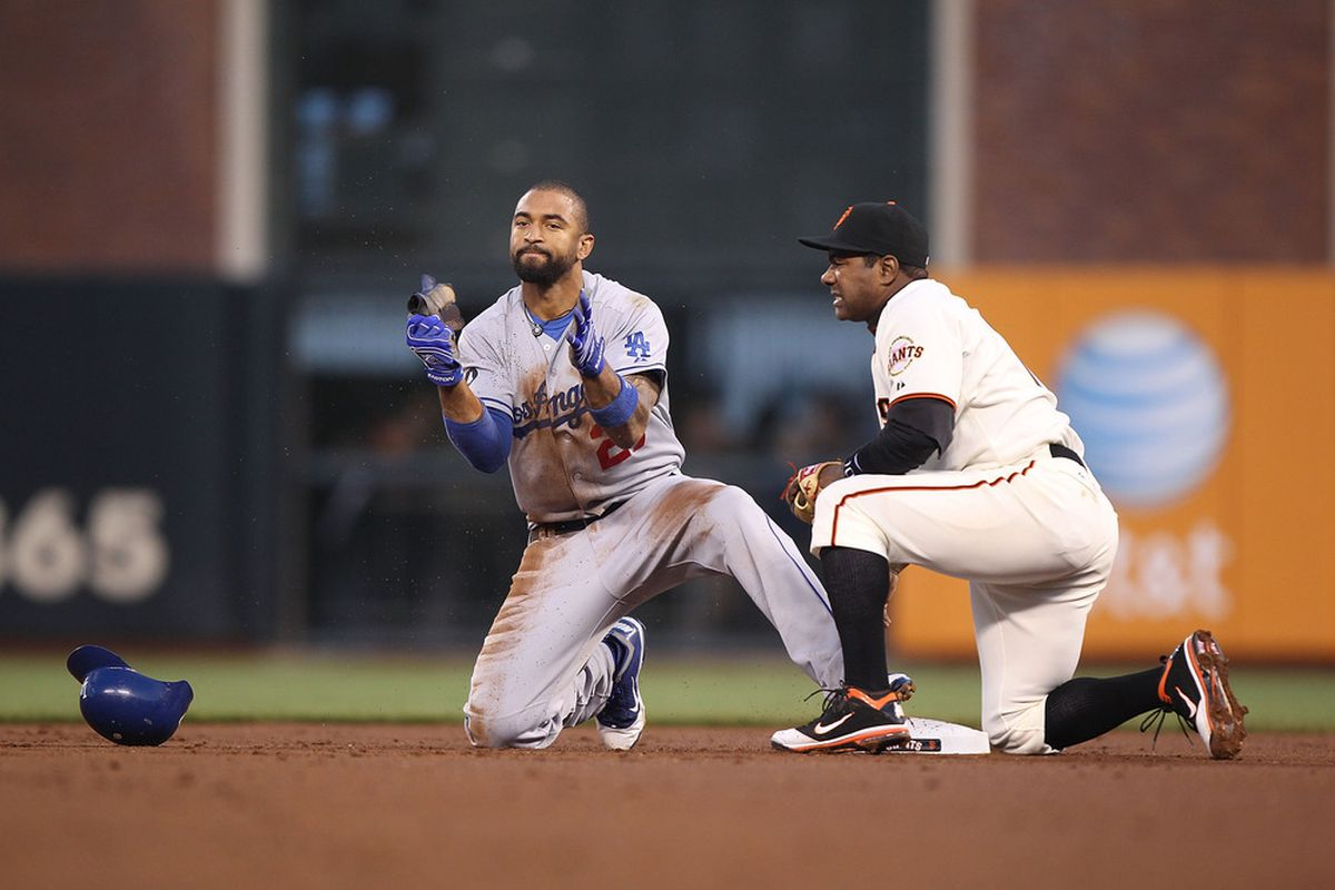 Matt Kemp has been, in a word, aggressive tonight on the bases.