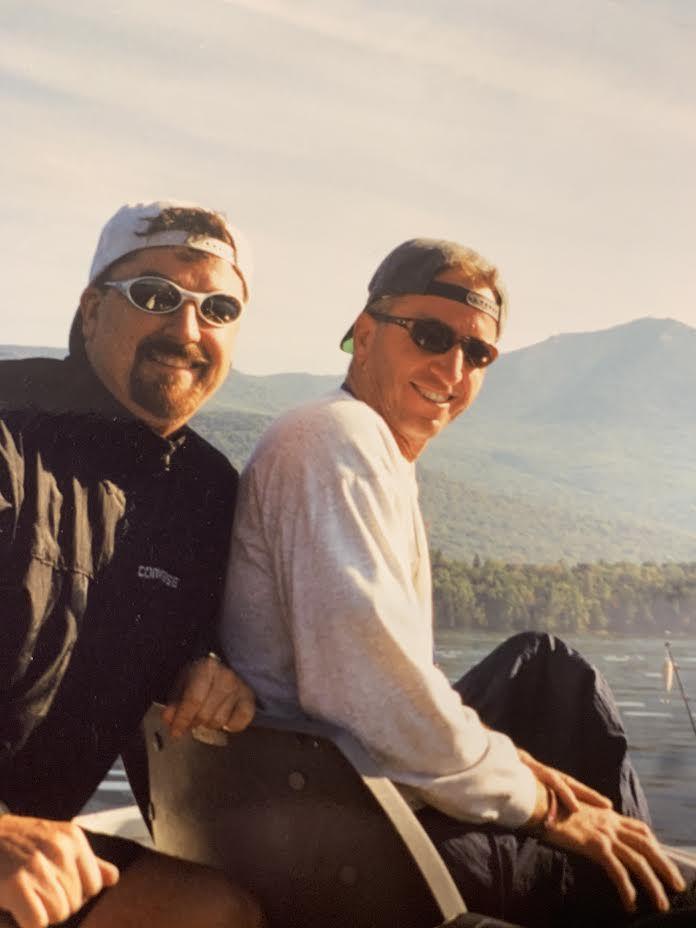 Coach Frank Burns (left) and David Kiley, champion wheelchair basketball athlete.