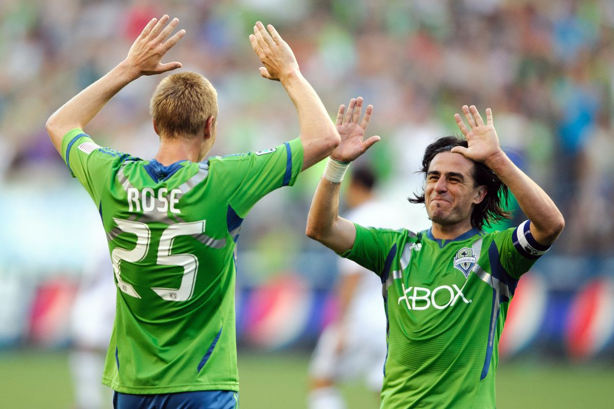 Rookie, Designated Player. It didn't matter, Seattle was the better team and by far. Credit: Steven Bisig-US PRESSWIRE