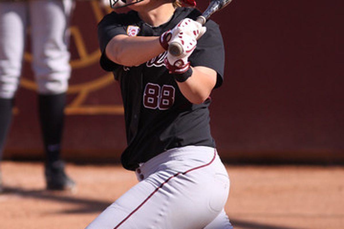 Annie Lockwood strokes the ball during ASU's Regional on May 20, 2011. Photo courtesy of Steve Rodriguez.