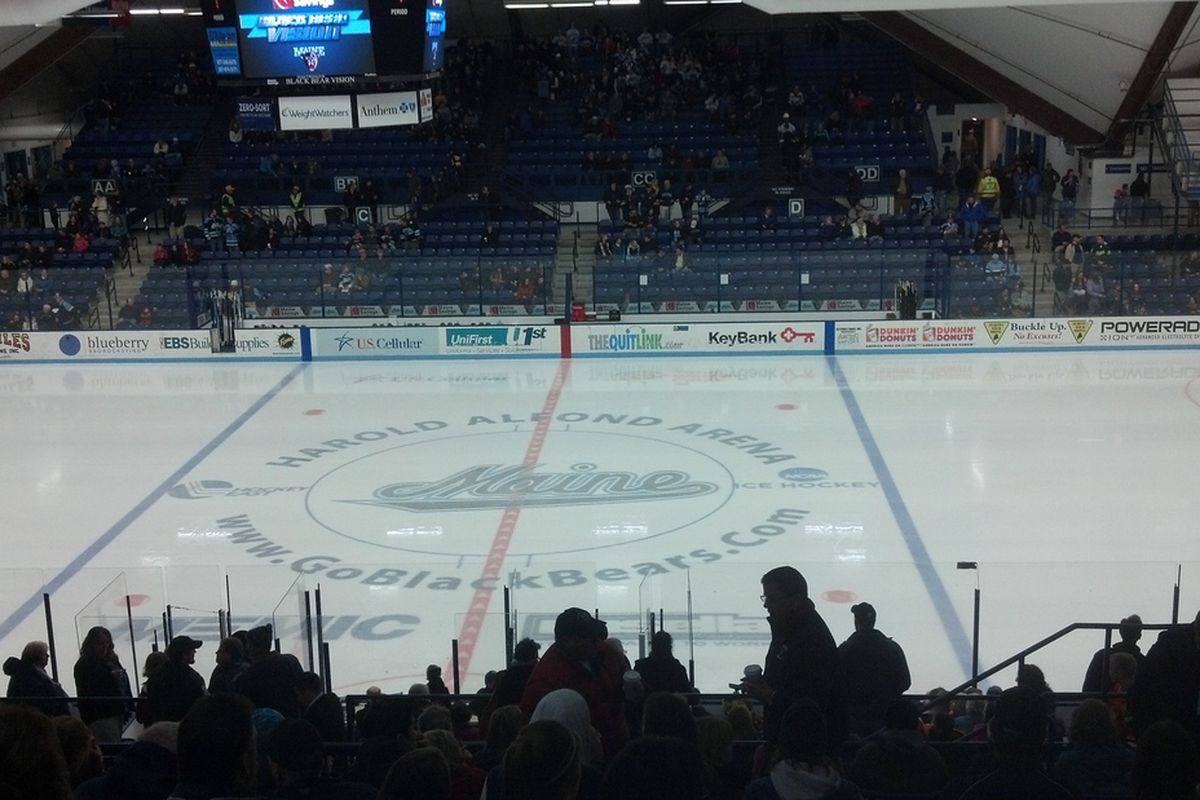 Maine's Alfond Arena will be the site of the first Hockey East game televised by NBC Sports this season.