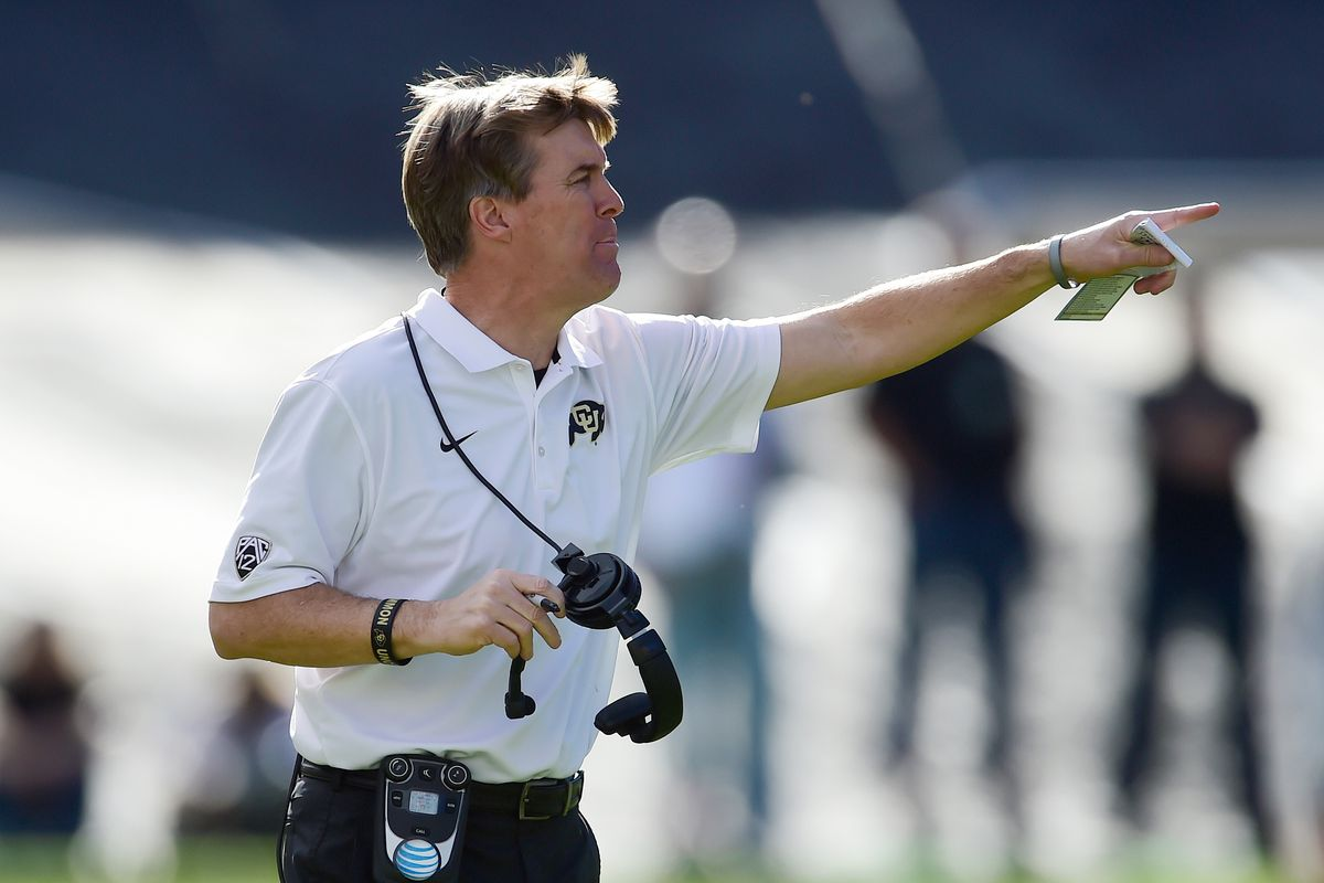 Mike MacIntyre is still searching for a new defensive coordinator.