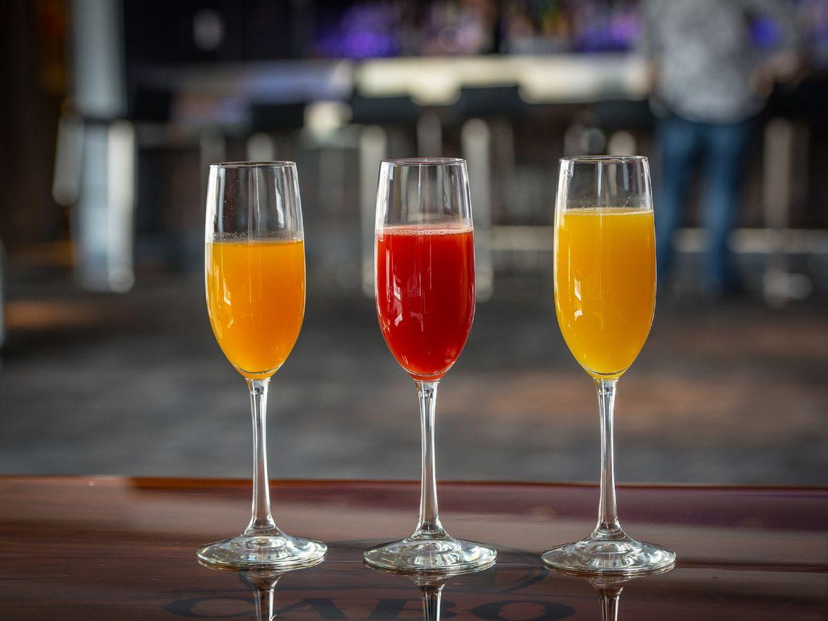 Three mimosas