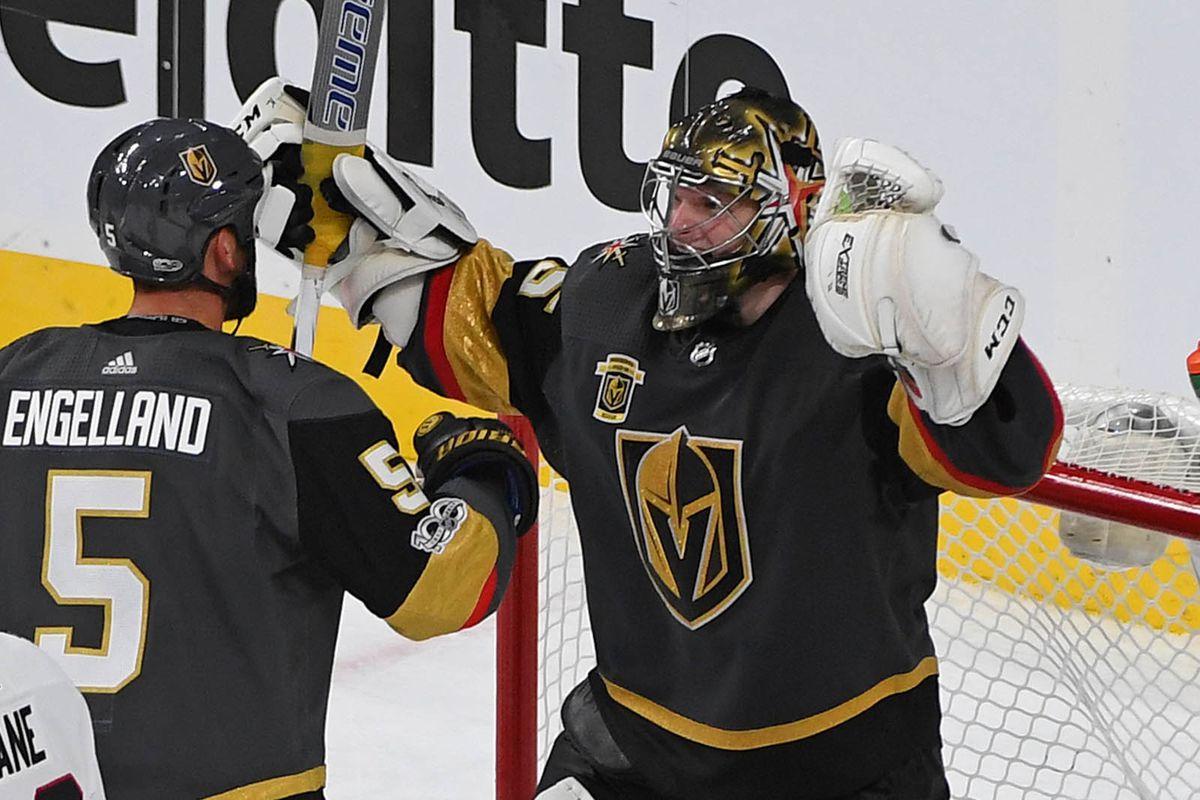 NHL: Chicago Blackhawks at Vegas Golden Knights