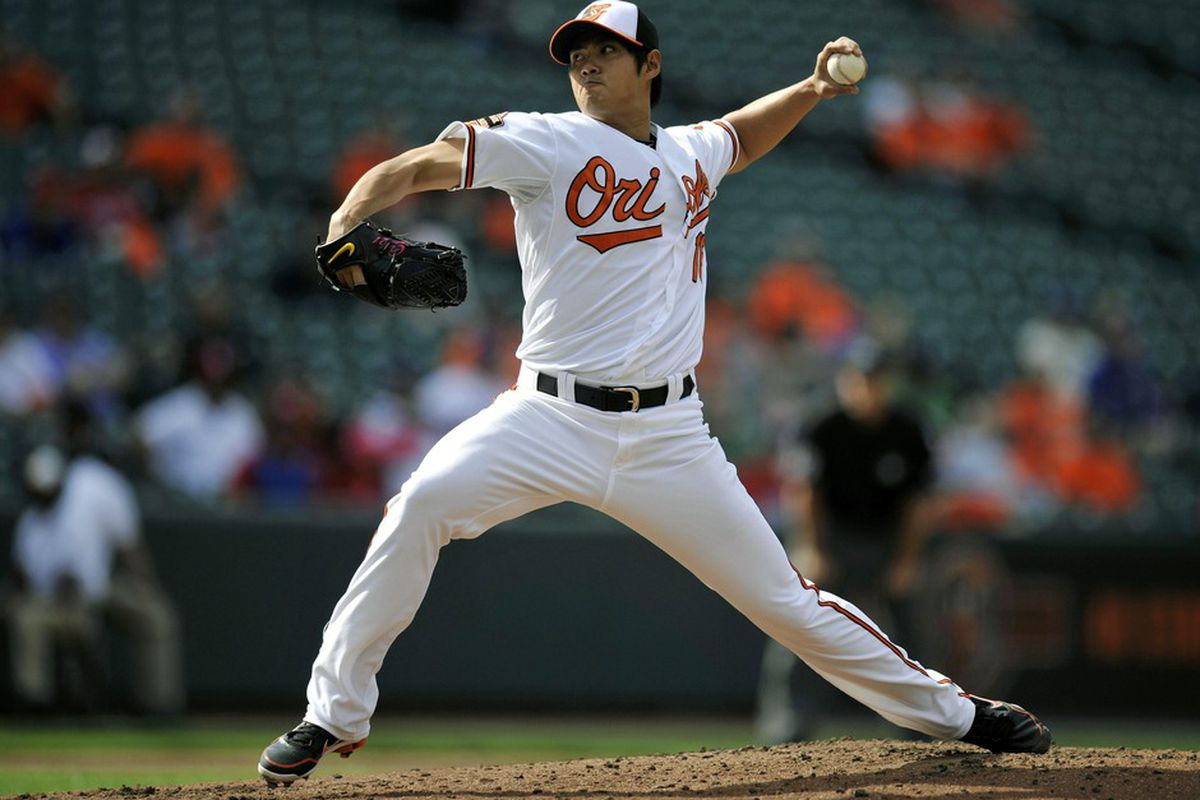 Taiwan's Hero, Wei-Yin Chen, was all that stood between the Orioles and complete disaster against Texas. Can he do the same against the Yankees? Mandatory Credit: Joy R. Absalon-US PRESSWIRE