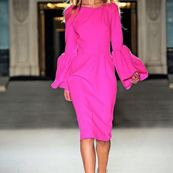 Even though it's hot pink, this Roksanda Ilincic dress is ab fab for fall-Fall 2012