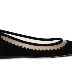 """<b>French Connection</b> Bianca Suede Flats, <a href=""""http://usa.frenchconnection.com/product/woman+Collections+shoes/SFBAR/Bianca+Suede+Ballet+Flats.htm"""">$100</a>"""
