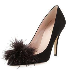 "<b>Kate Spade New York</b>, <a href=""http://www.cusp.com/kate-spade-new-york-lilo-pouf-point-toe-suede-pump-black-Pumps/prod14980097_cat2290002__/p.prod?icid=&searchType=EndecaDrivenCat&rte=%252Fcategory.jsp%253FitemId%253Dcat2290002%2526pageSize%253D30%2"