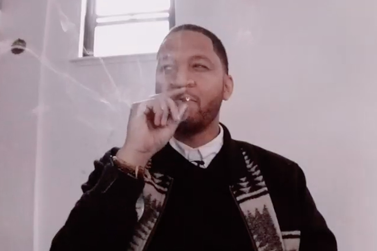 Congressional candidate Anthony Clark smokes marijuana in a campaign video released Monday.