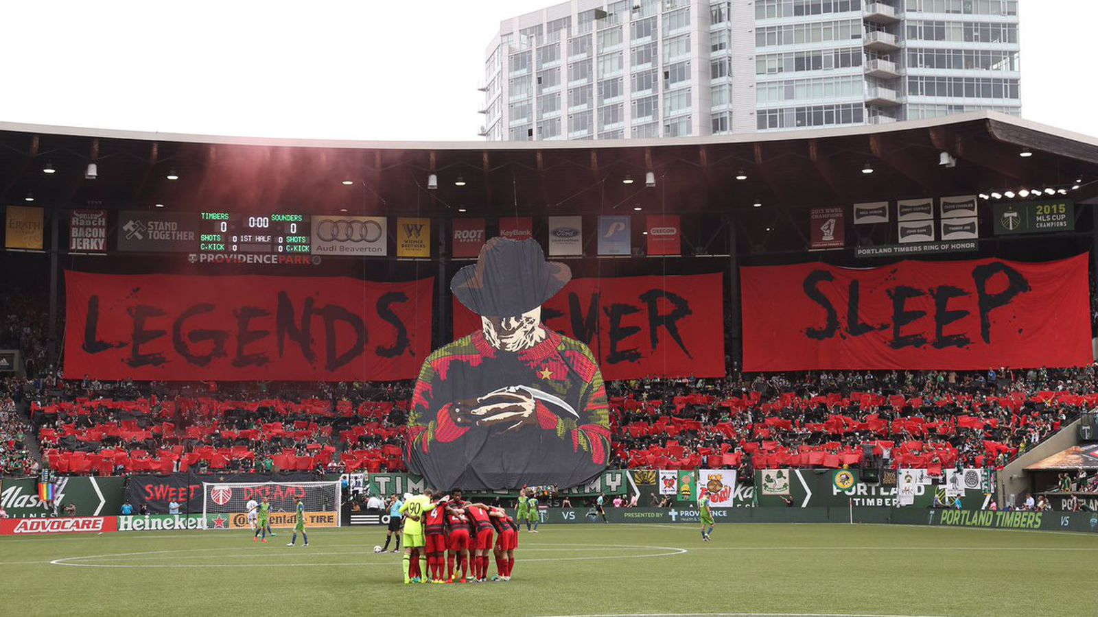 The Portland Timbers Freddy Krueger Tifo Will Haunt Your