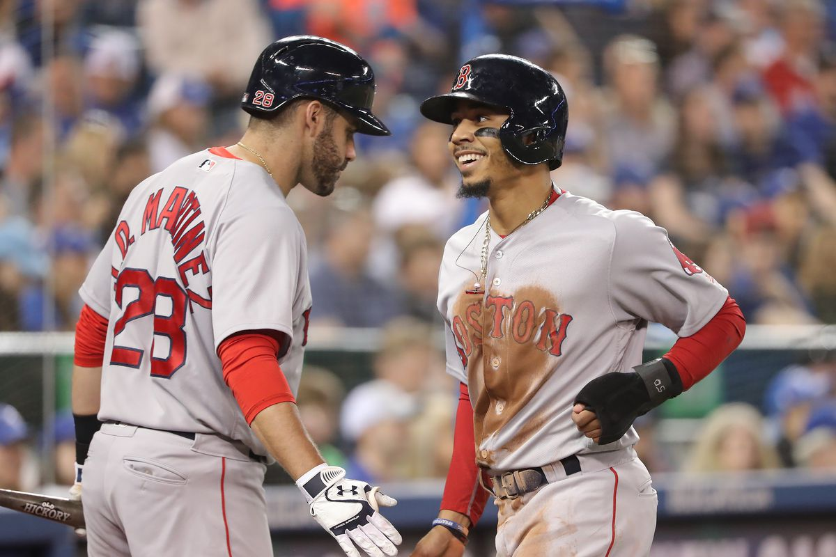Image result for jd martinez and mookie betts
