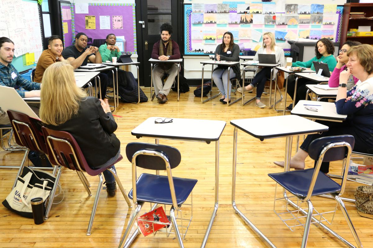 Photo: A teaching conference in Newark this April attended by educators from across the region.