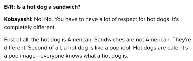 hot dogs are not sandwiches you fools