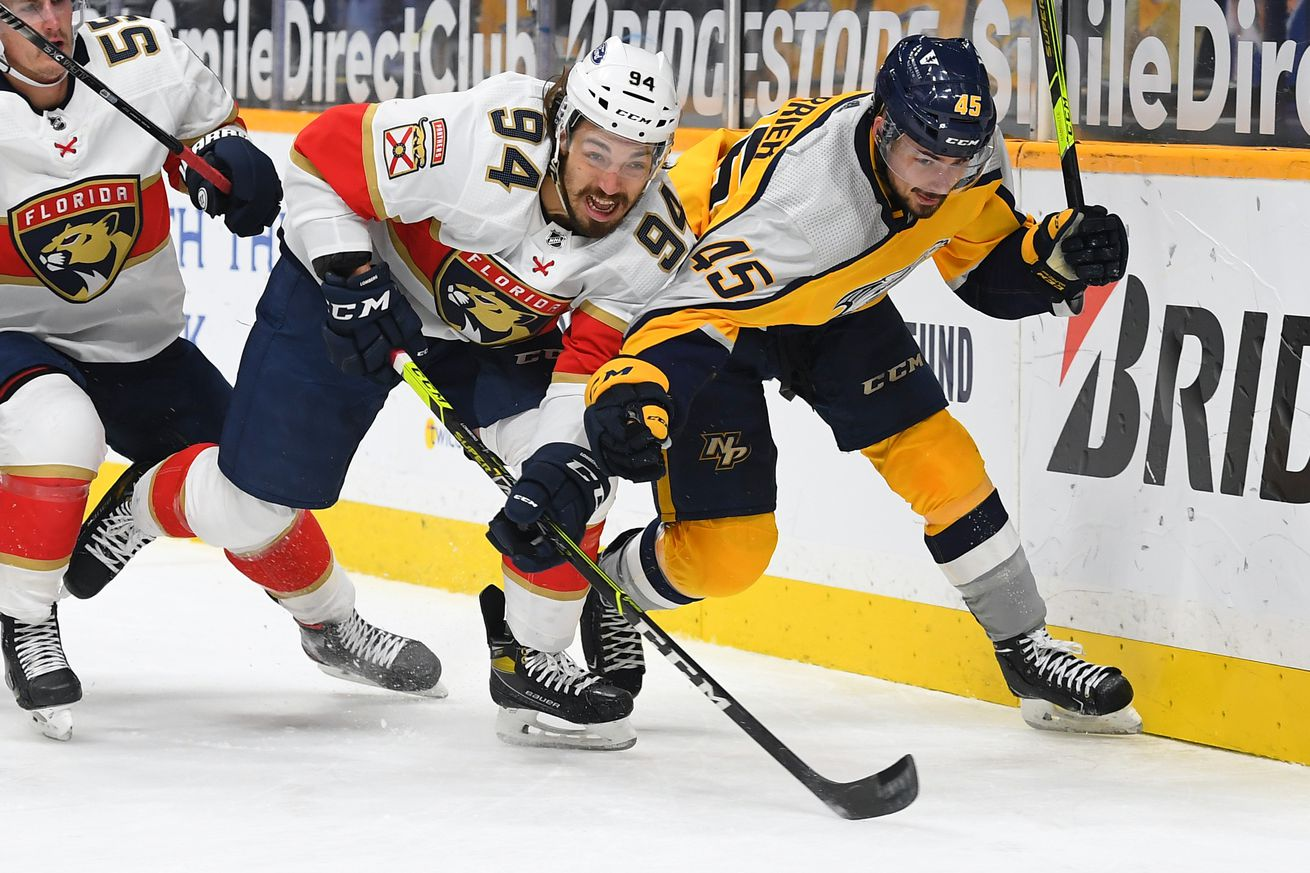 NHL: Florida Panthers at Nashville Predators