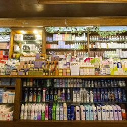 Rows of skin care products line the walls of Merz Apothecary in Lincoln Square. | Tyler LaRiviere/Sun-Times