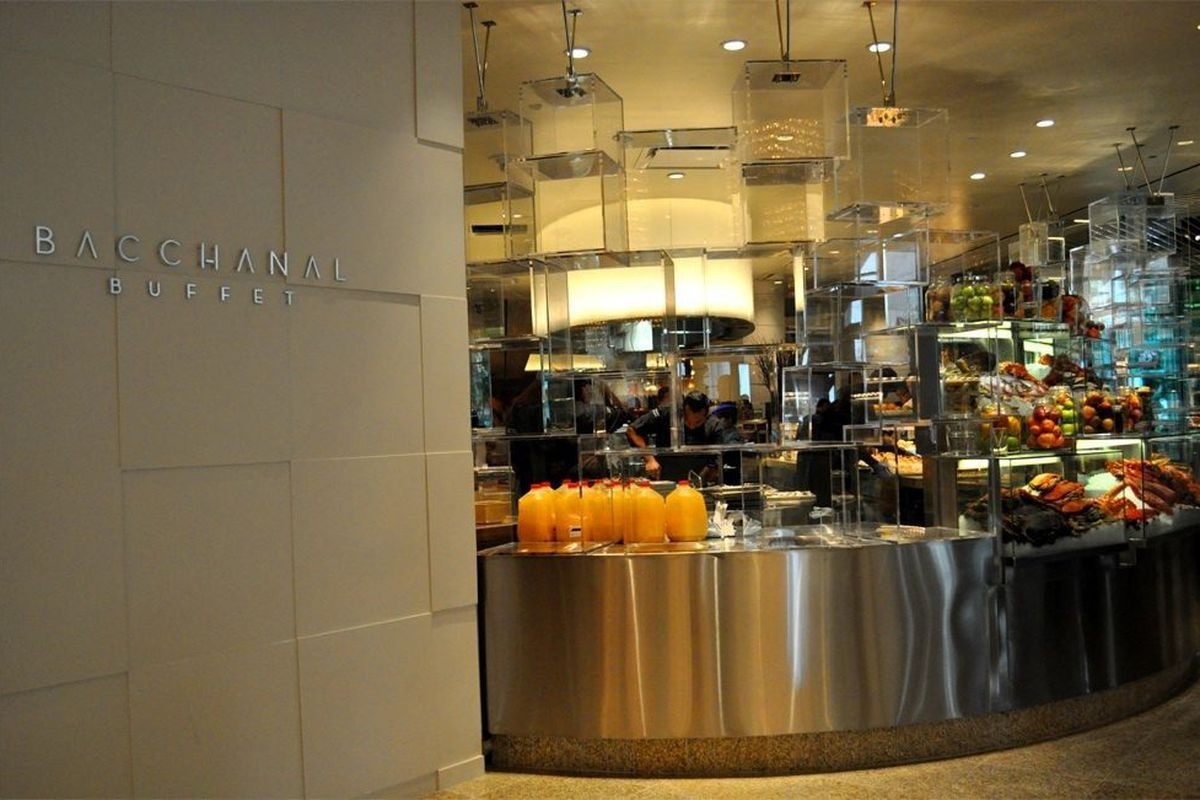 The entrance to Bacchanal Buffet.