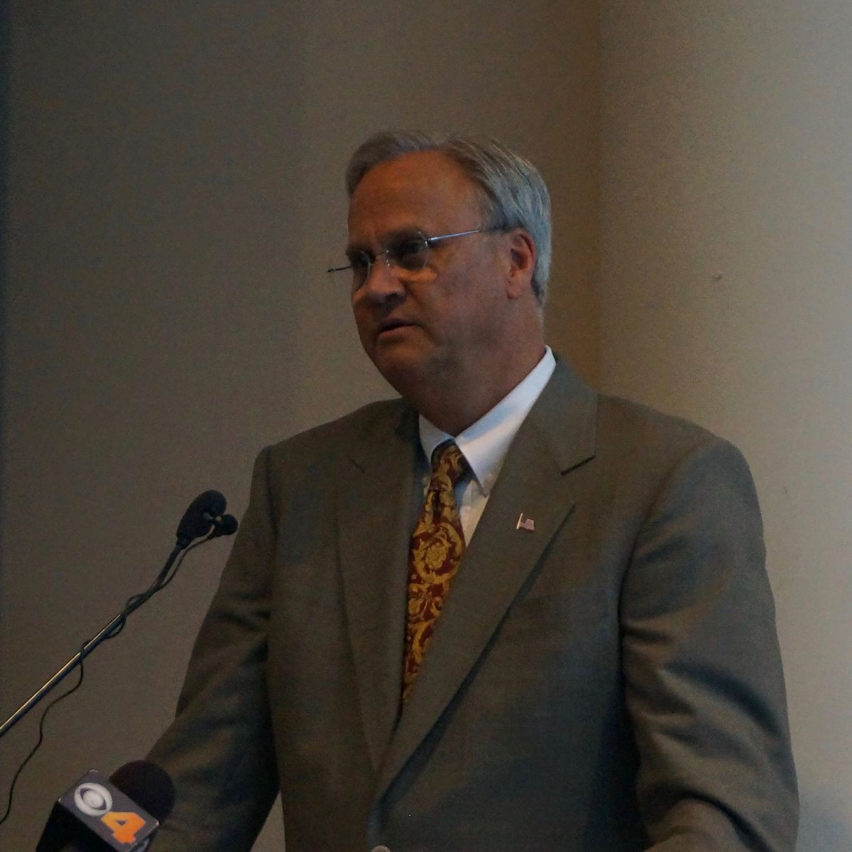 Jim Merritt at a forum hosted by Concerned Clergy and the Baptist Ministers Alliance.