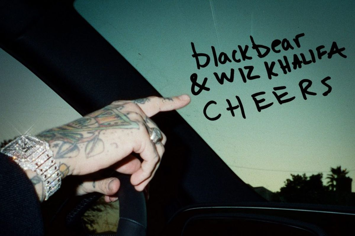 "blackbear and Wiz Khalifa's ""Cheers"" artwork"