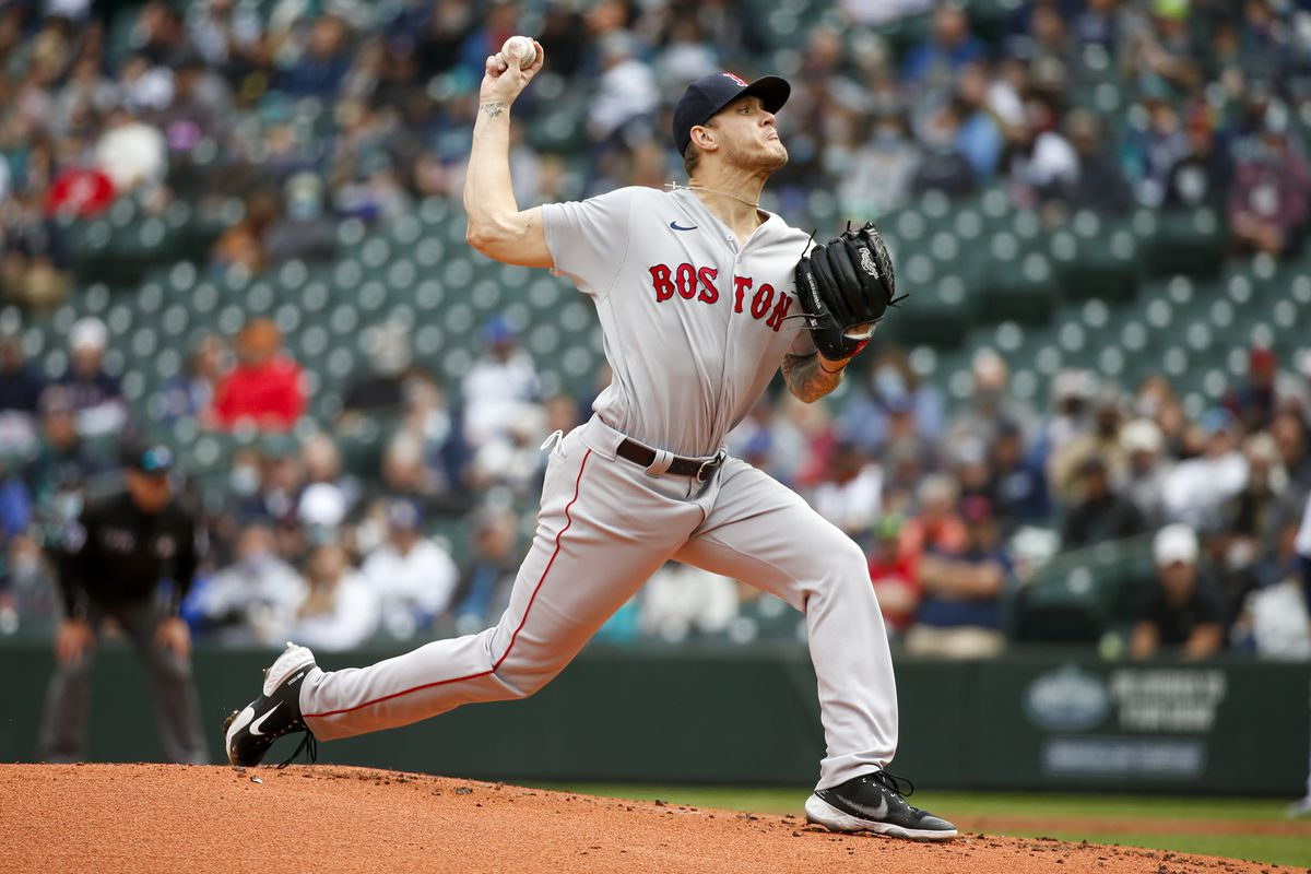 Boston Red Sox starting pitcher Tanner Houck (89) throws against the Seattle Mariners during the first inning at T-Mobile Park.