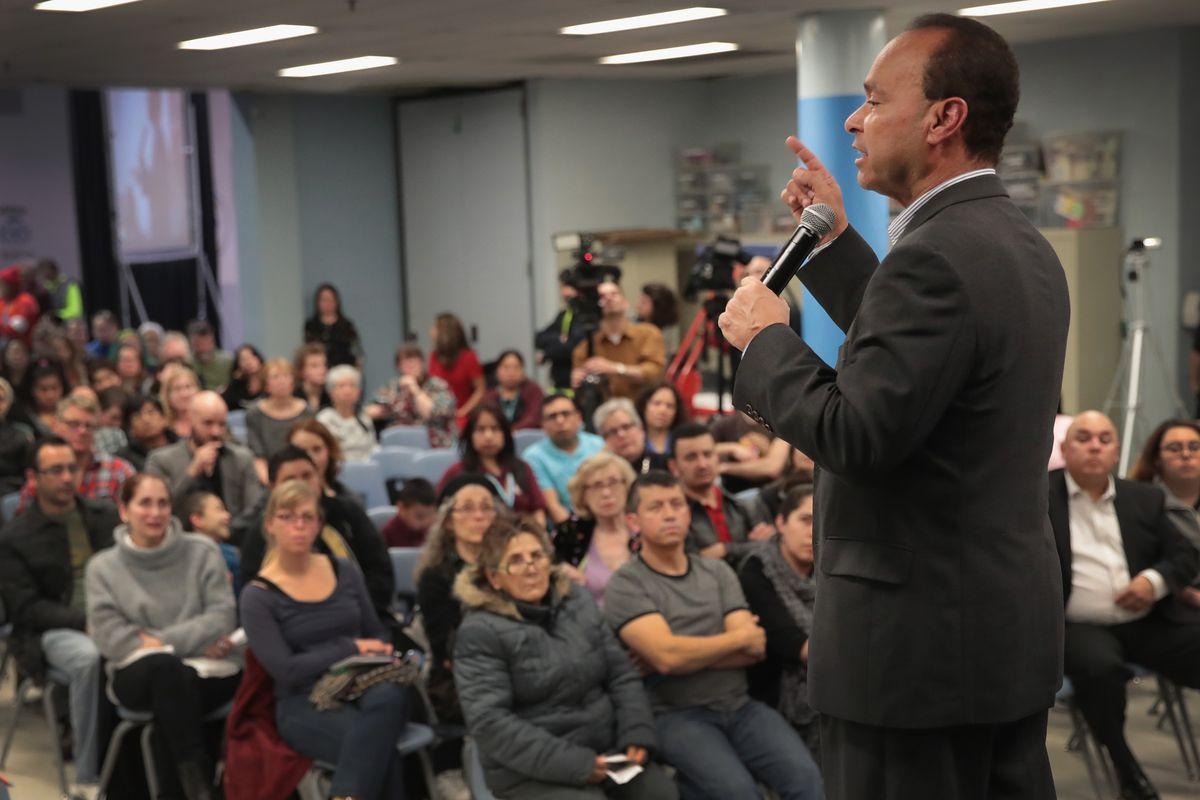 Democratic Rep. Luis Gutierrez Holds Community Town Hall In Chicago