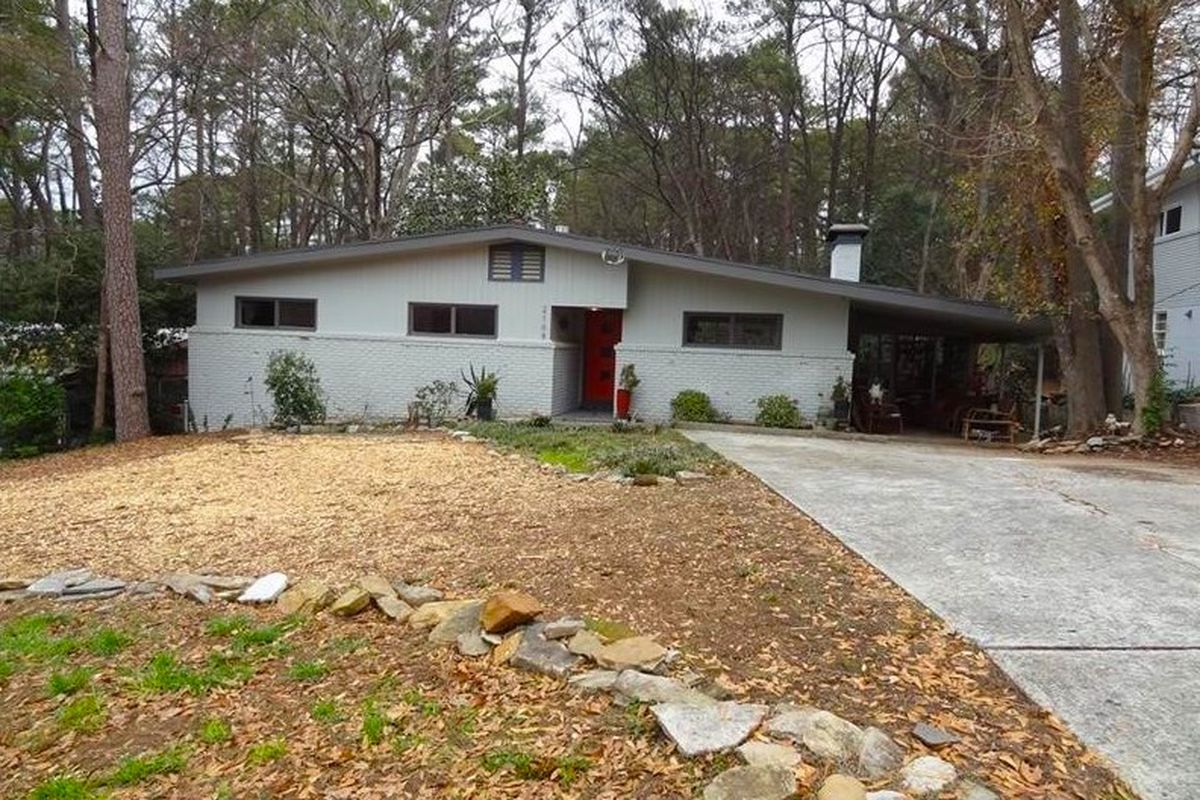 A midcentury modern home for sale in Atlanta for $420,000.