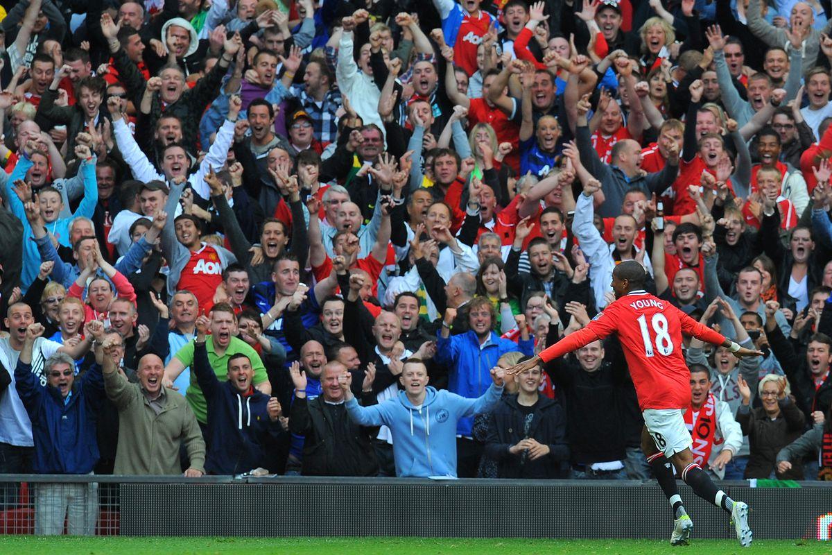 Manchester United's English striker Ashl