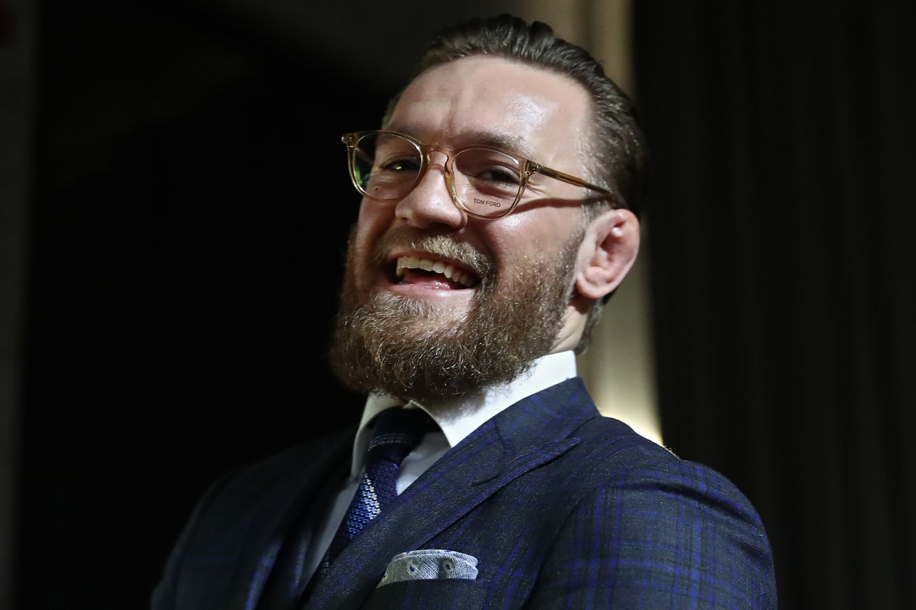 Press conference by Irish MMA fighter Conor McGregor in Moscow