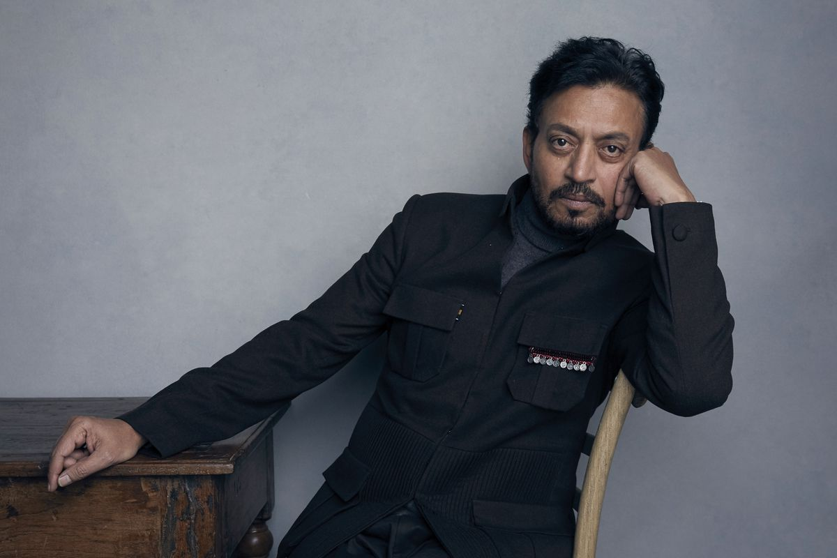 """Irrfan Khan poses for a portrait to promote the film """"Puzzle"""" during the Sundance Film Festival in Park City, Utah, in 2018."""