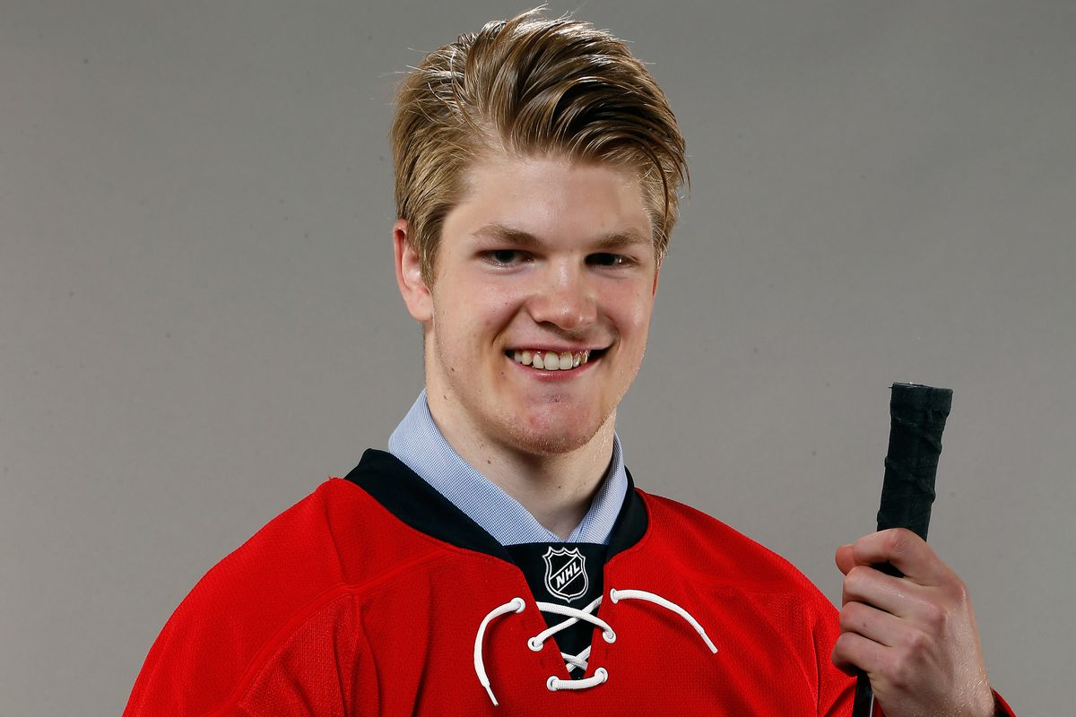 UNH freshman Warren Foegele was selected by the Carolina Hurricanes in the 2014 NHL Draft.