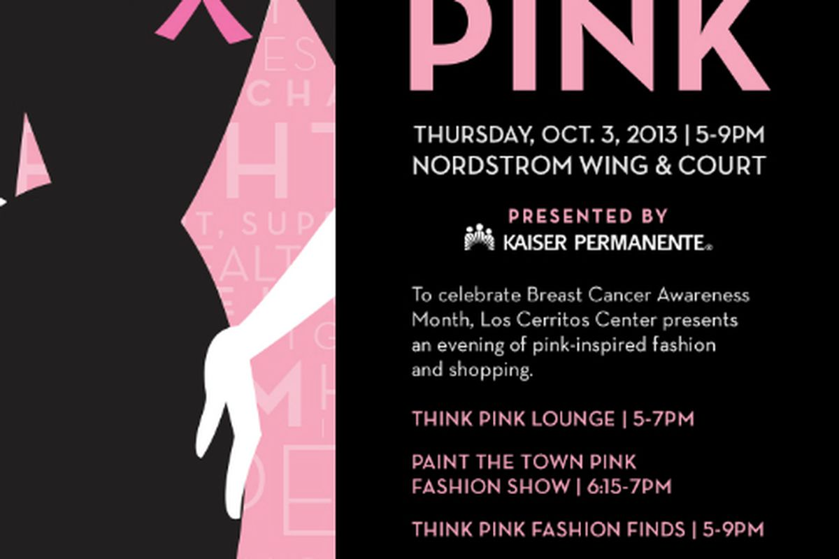Flyer via Paint The Town Pink