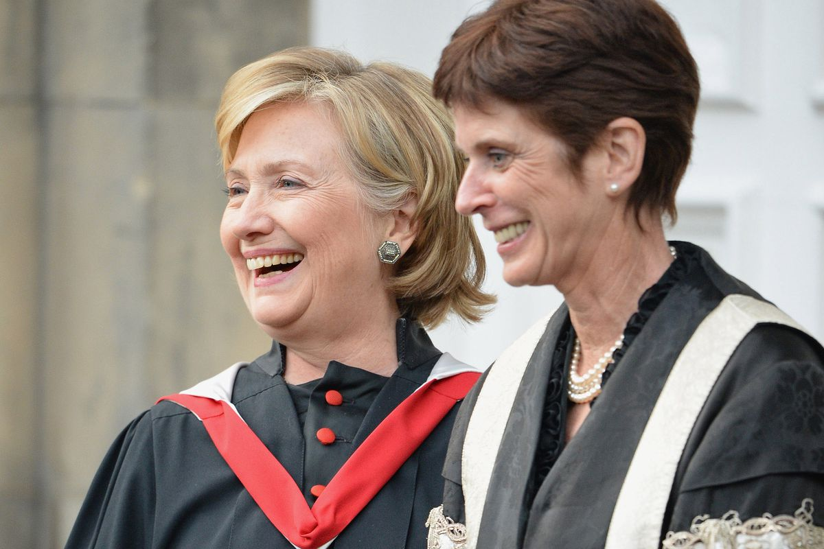 Louise Richardson broke an even thicker glass ceiling than Hillary Clinton is confronting.