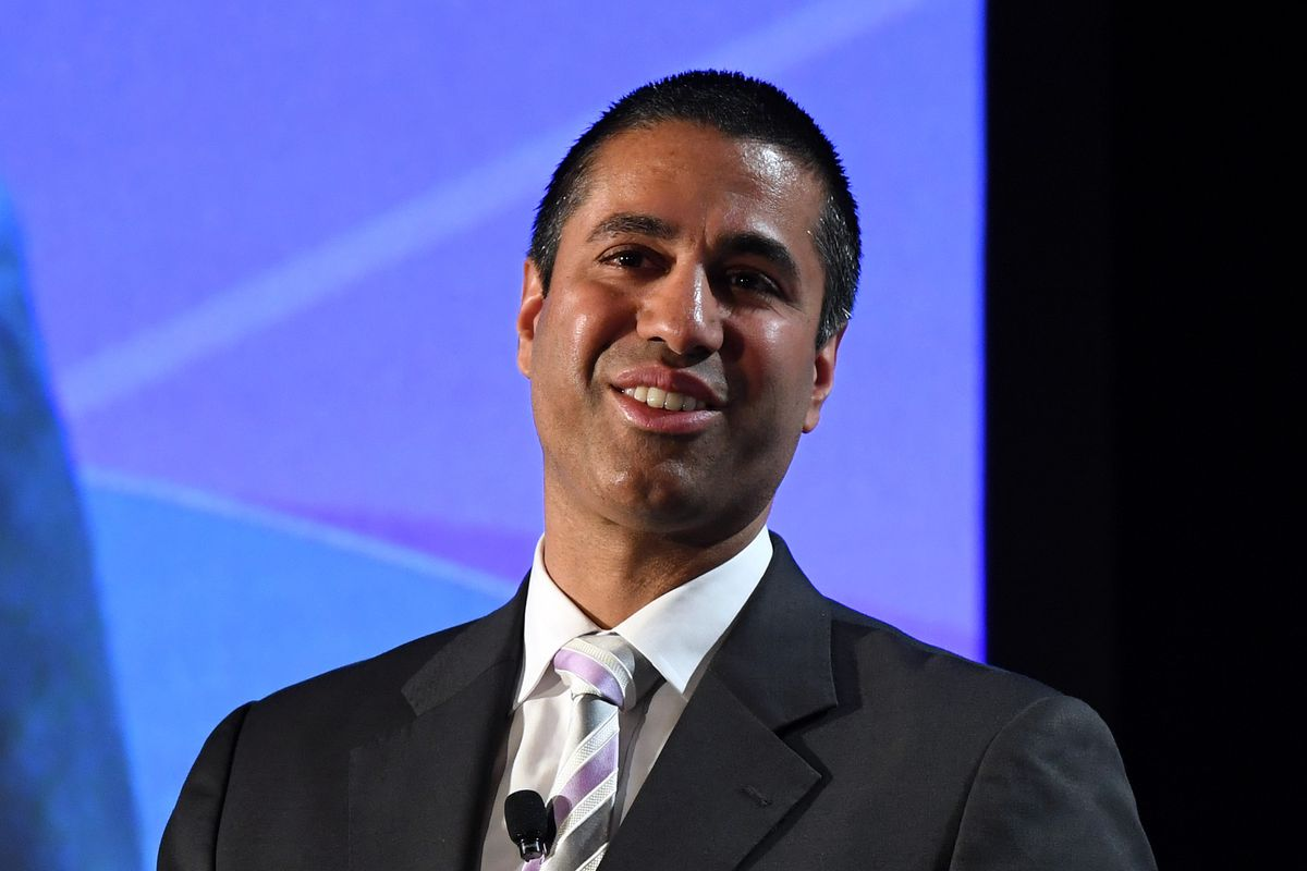 Federal Communications Commission Chairman Ajit Pai Addresses 2017 NAB Show In Las Vegas