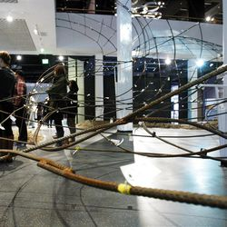 Media members get a preview of the Leonardo museum Thursday, Oct. 6, 2011 in Salt Lake City.