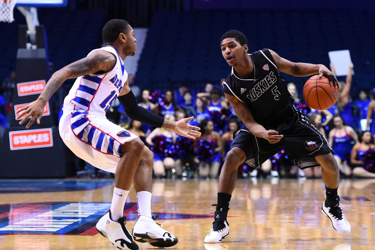 Travon Baker (right) has scored big to lead the Huskies through the start of its MAC schedule