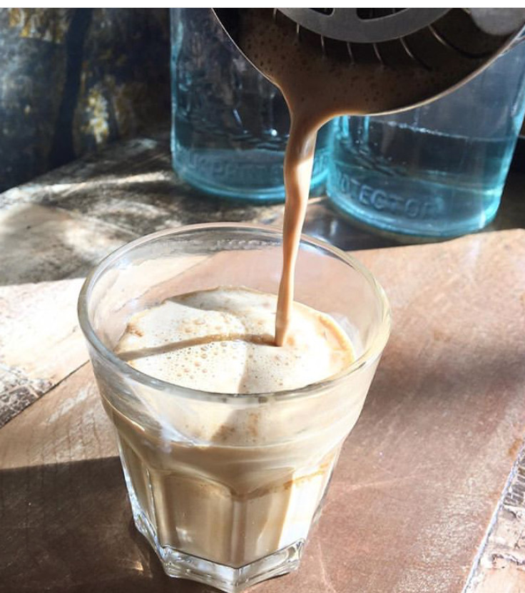 TCB's Honey Badger includes four shots of espresso, honey, and half 'n' half shaken with ice and strained into glass