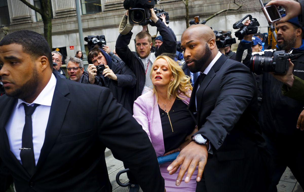 April 16: Stormy Daniels, aka Stephanie Clifford, arrives at the US District Court of New York for a hearing related to Michael Cohen, President Trump's longtime personal attorney and confidante. Read More. (Yana Paskova/Getty Images)