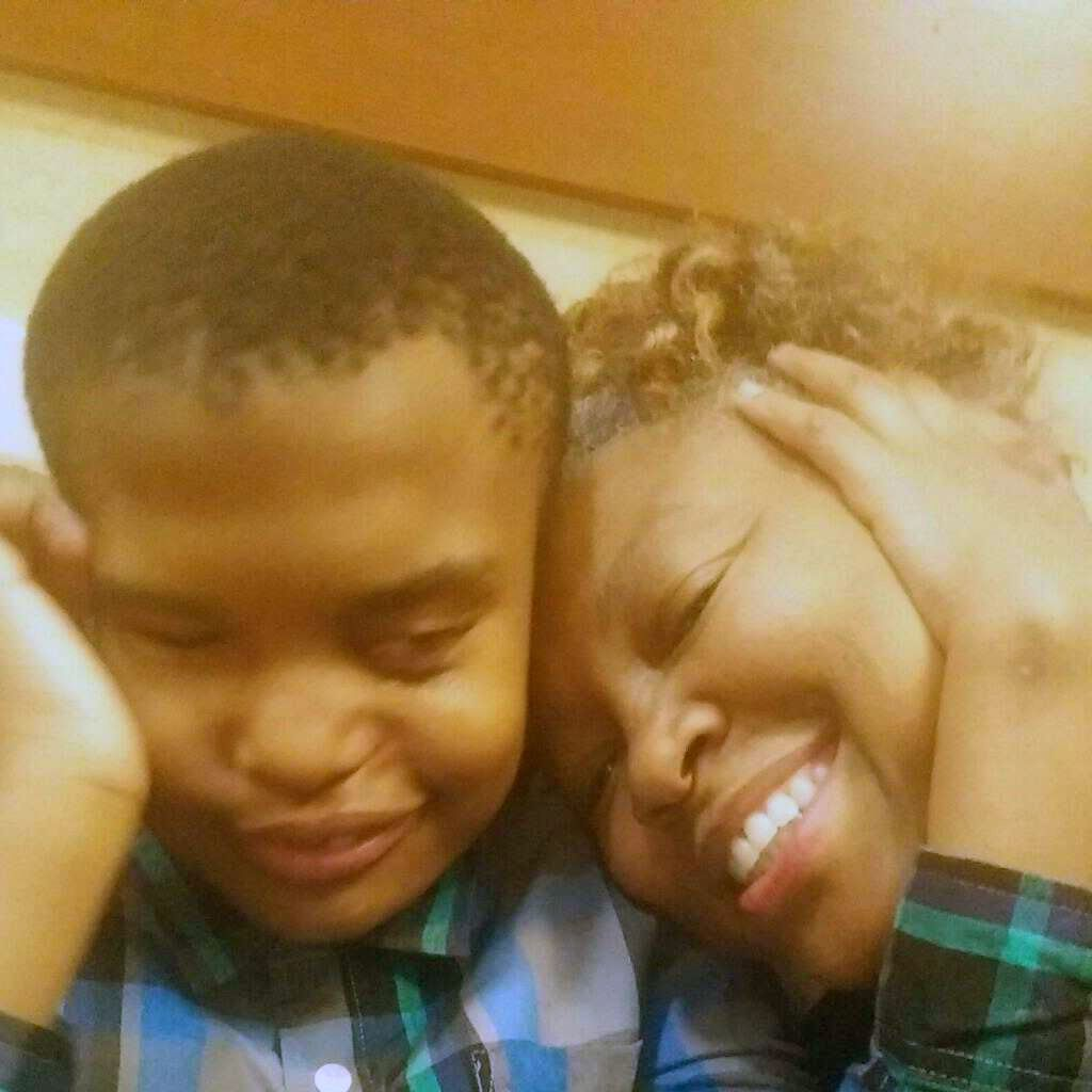 Caleb Bell, 21, and his mom, Chrystal Bell. Remote learning doesn't work for Caleb because he is deaf, blind and nonverbal.