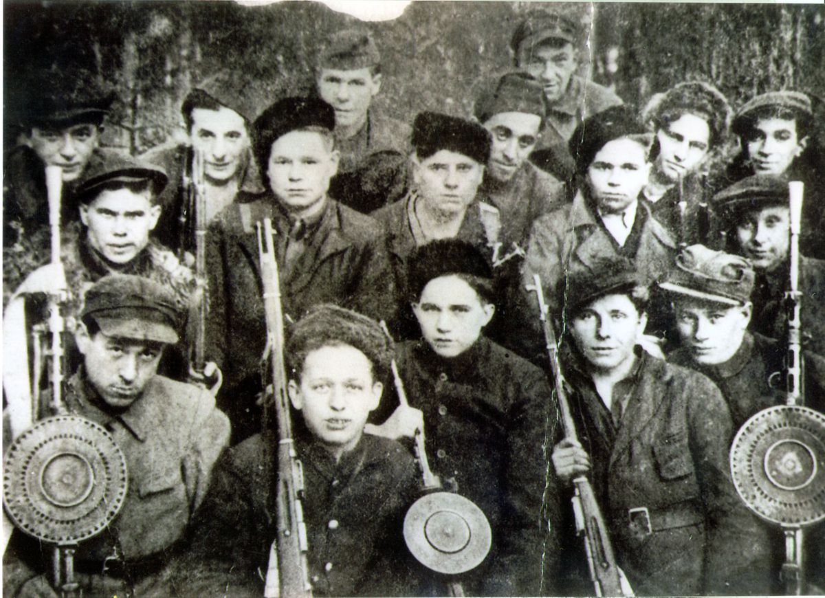 Leon Figa is in the top row, second from the left. This photograph was believed to be taken in 1943 when the freedom fighters attacked and took over a German truck and found a camera inside the vehicle.