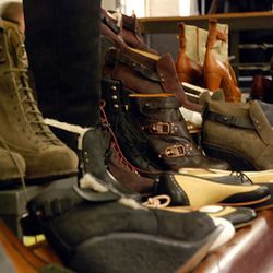 A look down the women's shoe area