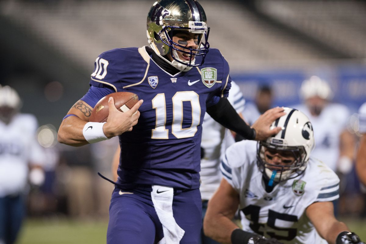 QB Cyler Miles will hope to get the Husky offense going