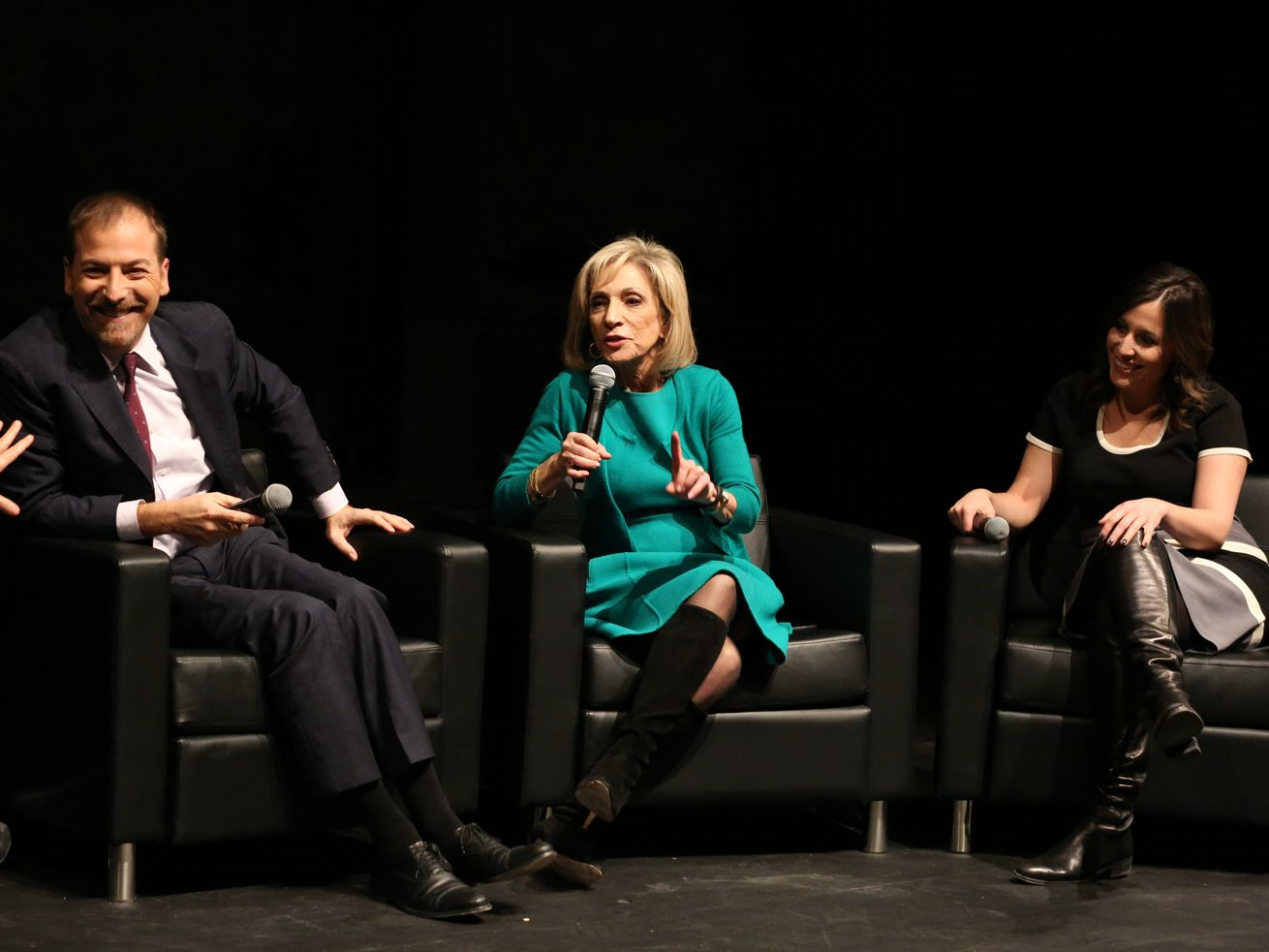 Left to right: Chuck Todd, Andrea Mitchell and Hallie Jackson