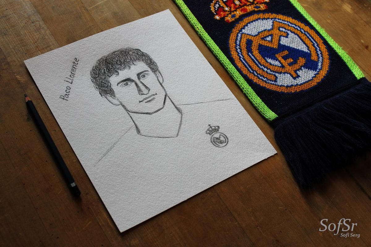 Paco Llorente. Drawing by Sofi Serg.