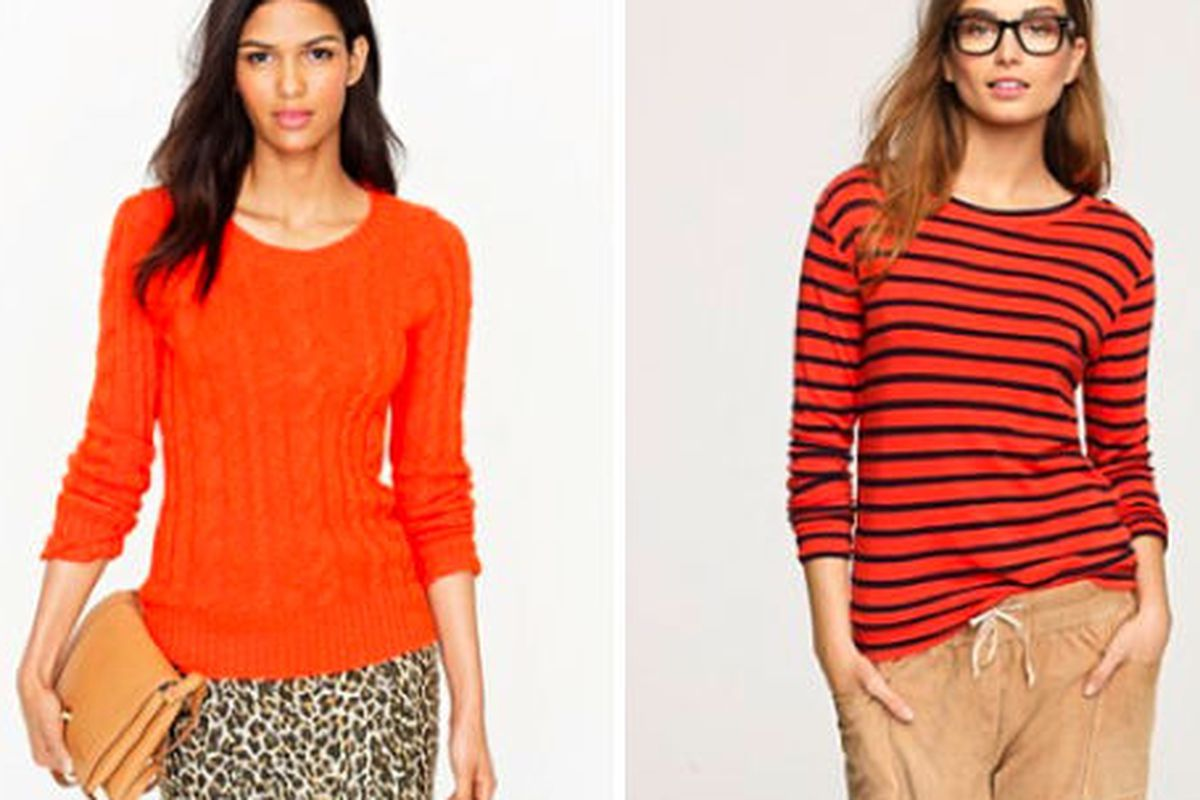"""The Shrunken Fisherman <a href=""""http://www.jcrew.com/womens_feature/catalogjcrewcomexclusives/onlineshops/sweaters/PRDOVR~41313/99102580136/ENE~1+2+3+22+4294967294+20~~~20+17~90~~~~~~~/41313.jsp"""">sweater</a> and the Coastline striped <a href=""""http:/"""
