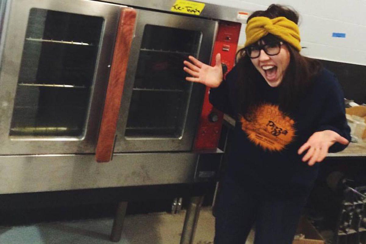 Shauna Lott inside the new Temple Bakery