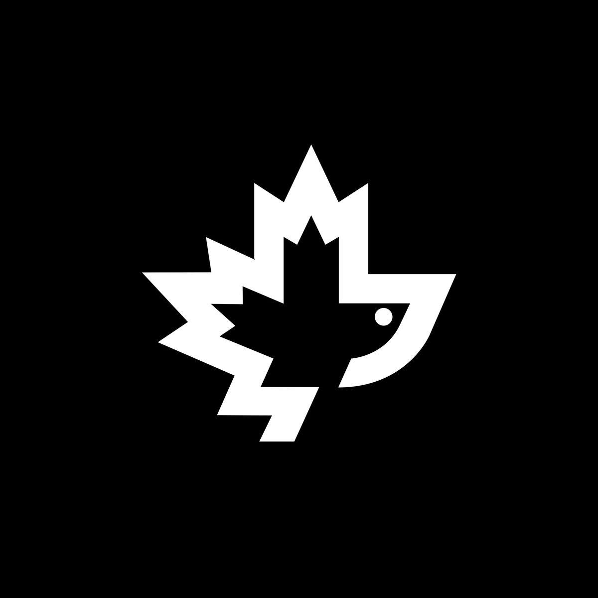 Logo of maple leaf flower