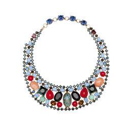 """<span class=""""credit"""">Schreiner Bib Necklace, <a href=""""http://mflynnjewelry.com/schreiner-necklace/p/24281/ac/c/?cPath=42_149"""">$2200</a></span><p>"""