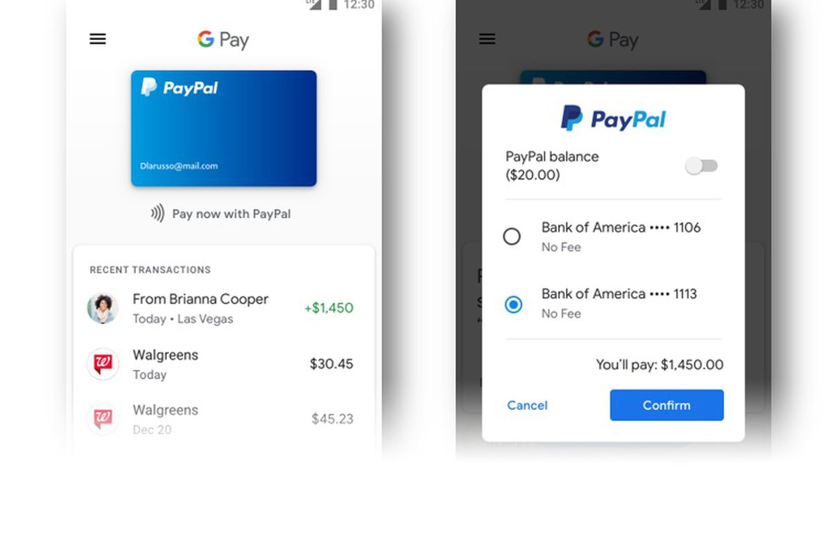 G Pay Paypal