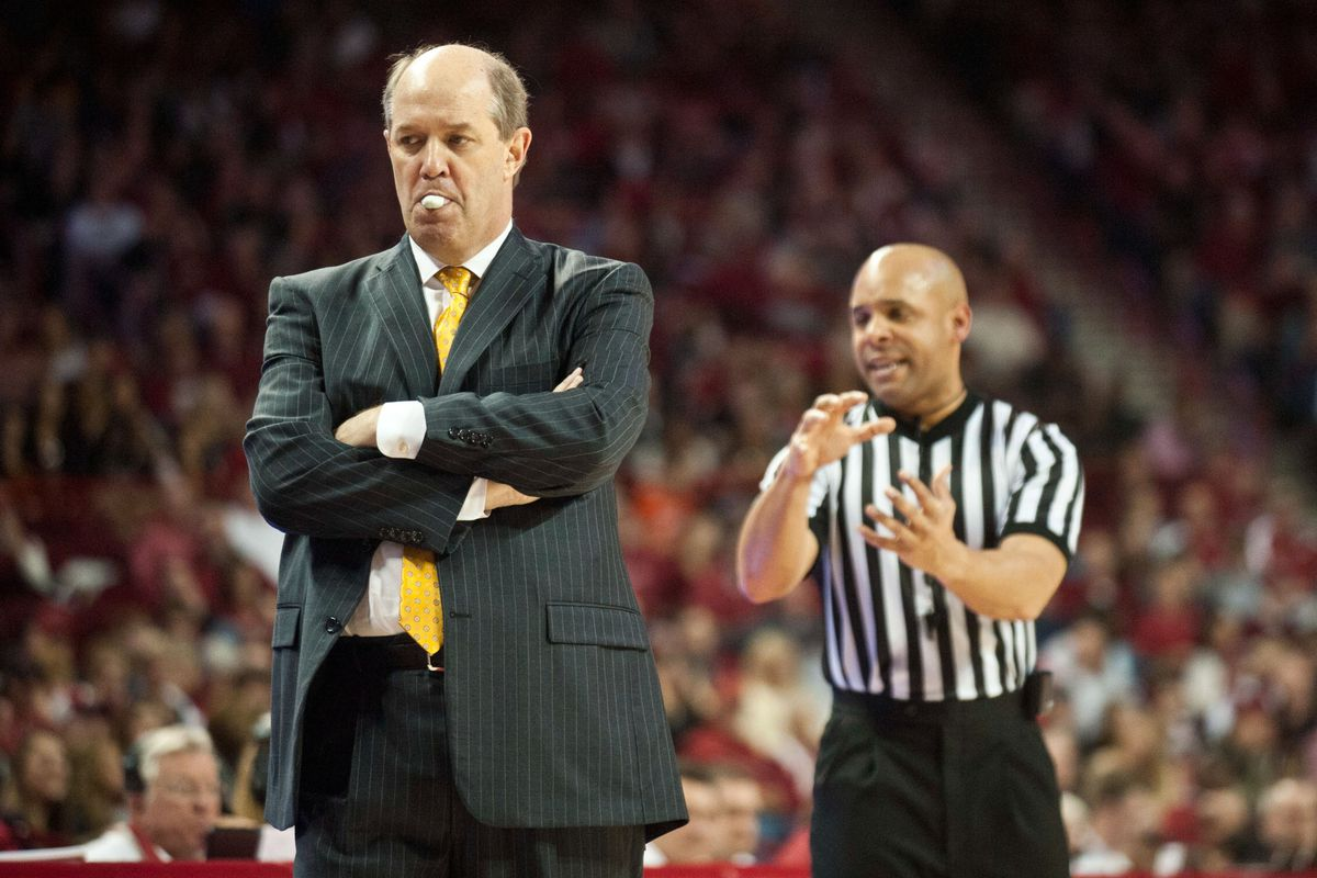 Anthony Jordan attempting to hadouken an unsuspecting Kevin Stallings.
