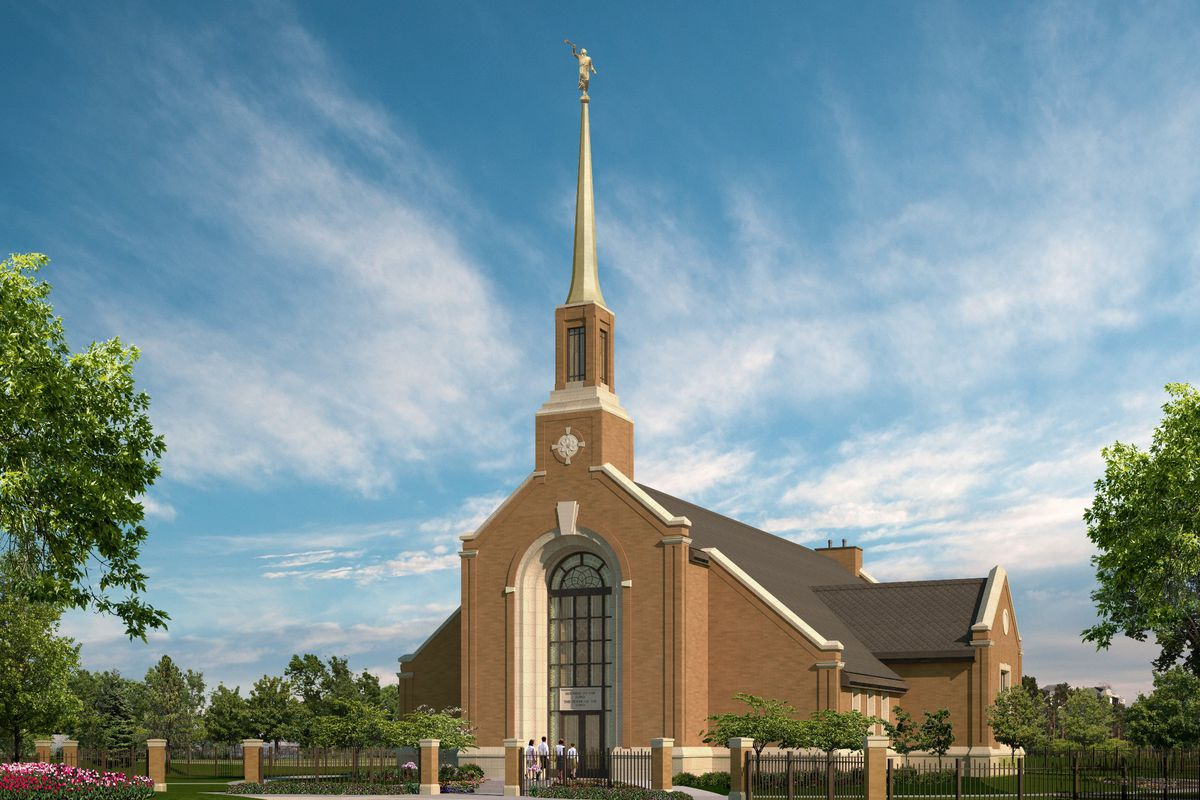 An artist's rendering of the Winnipeg Manitoba Temple.
